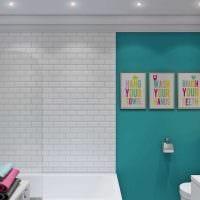 вариант яркого интерьера ванной 6 кв.м картинка