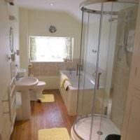 идея красивого дизайна ванной комнаты 6 кв.м картинка