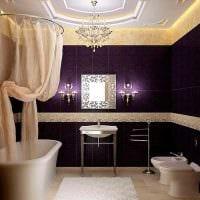 вариант яркого декора ванной комнаты в классическом стиле фото