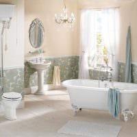 идея необычного дизайна ванной в классическом стиле картинка