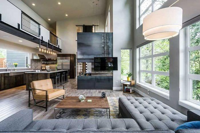 идея яркого дизайна квартиры со вторым светом