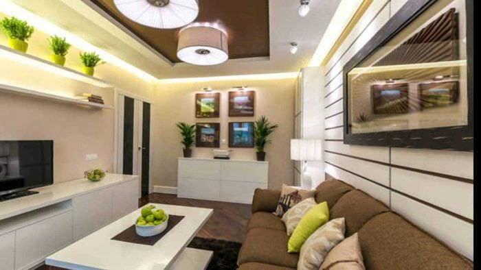 Дизайн гостиной комнаты 25 кв.м.: оформление, зонирование - .