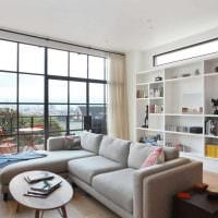 пример яркого дизайна гостиной 2018 фото