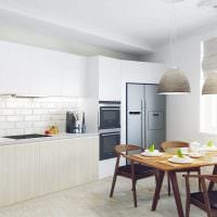 вариант светлого интерьера квартиры в светлых тонах в современном стиле картинка