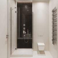 вариант яркого интерьера ванной комнаты 3 кв.м фото