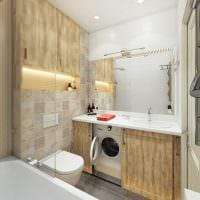 вариант необычного интерьера ванной 4 кв.м фото