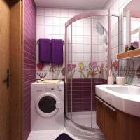 вариант необычного интерьера ванной 2.5 кв.м фото