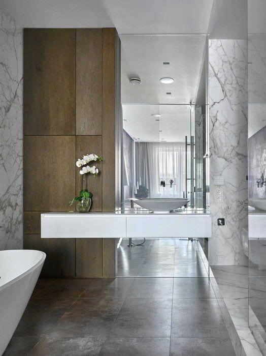 идея красивого интерьера ванной 2017
