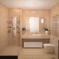 идея современного дизайна ванной 4 кв.м картинка