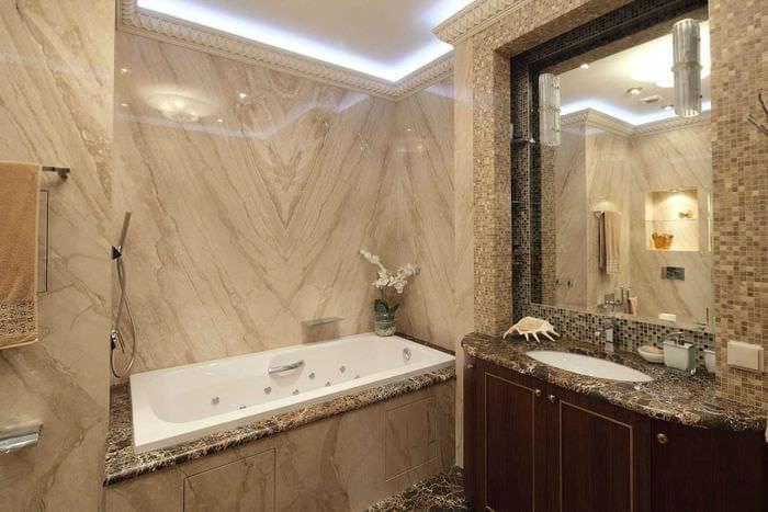 идея современного интерьера ванной 4 кв.м