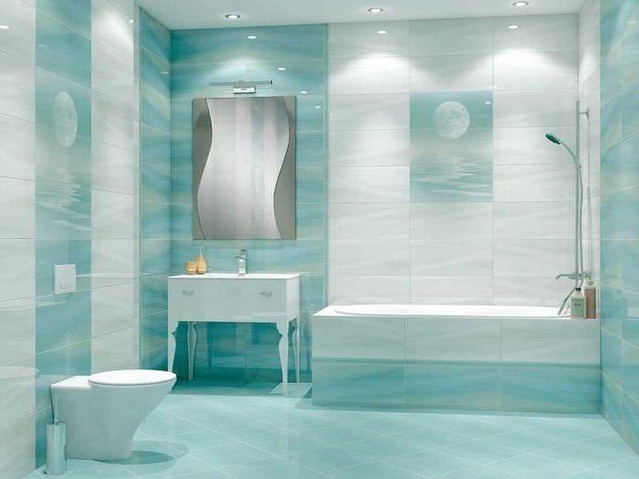 вариант современного стиля ванной 6 кв.м
