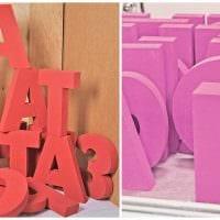 идея применения декоративных букв в стиле спальни картинка