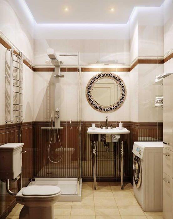 вариант сочетания насыщенного коричневого цвета в интерьере кухни