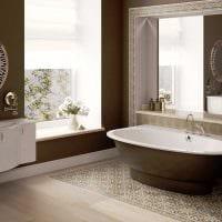 идея сочетания светлого коричневого цвета в дизайне гостиной фото