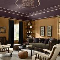вариант сочетания насыщенного коричневого цвета в интерьере кухни картинка