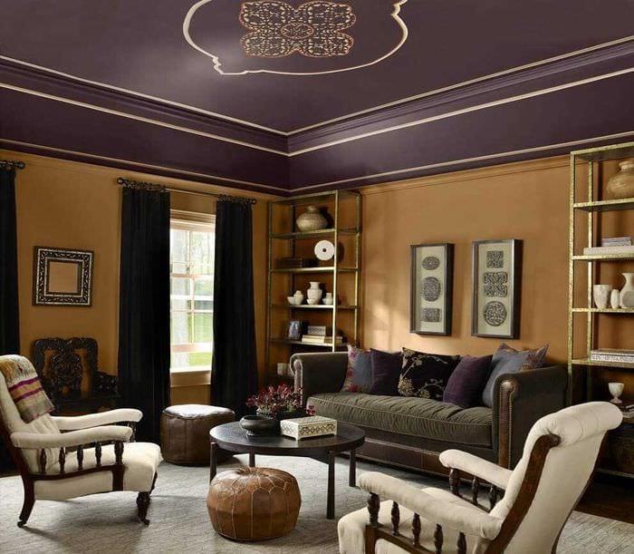 идея сочетания светлого коричневого цвета в интерьере спальни