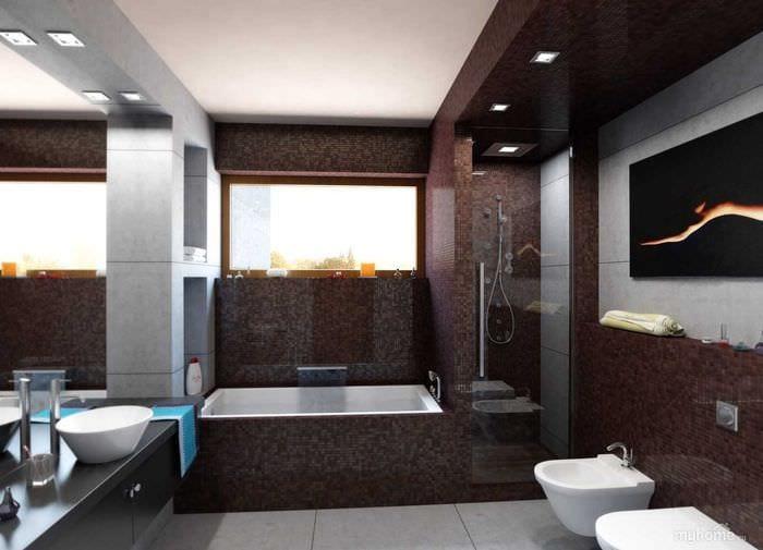 вариант сочетания светлого коричневого цвета в интерьере спальни