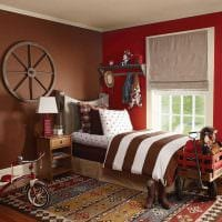 вариант сочетания насыщенного коричневого цвета в интерьере спальни картинка