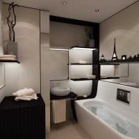 идея необычного дизайна ванной комнаты 2.5 кв.м фото