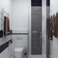 идея современного дизайна ванной комнаты 3 кв.м картинка