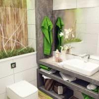 вариант красивого интерьера ванной комнаты 4 кв.м фото