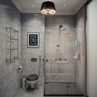 вариант современного интерьера ванной 6 кв.м фото