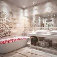 вариант красивого стиля ванной 2017 картинка