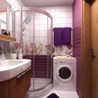 идея красивого дизайна ванной 3 кв.м фото
