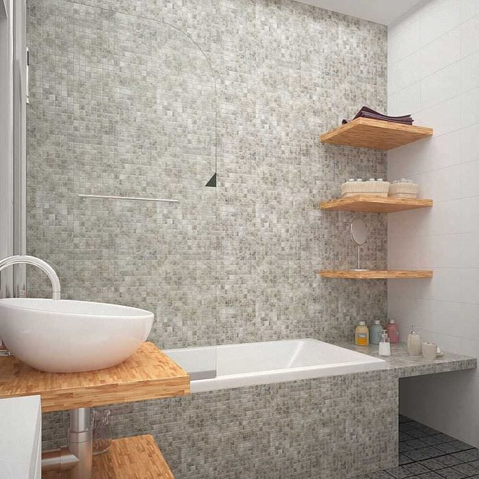 вариант яркого интерьера ванной комнаты 6 кв.м