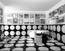 идея красивого интерьера ванной в черно-белых тонах картинка