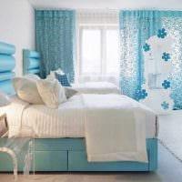 идея красивого дизайна спальни в белом цвете картинка