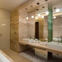 идея современного дизайна большой ванной комнаты картинка