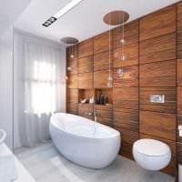 вариант яркого интерьера большой ванной комнаты фото