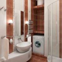 идея яркого стиля ванной 3 кв.м картинка