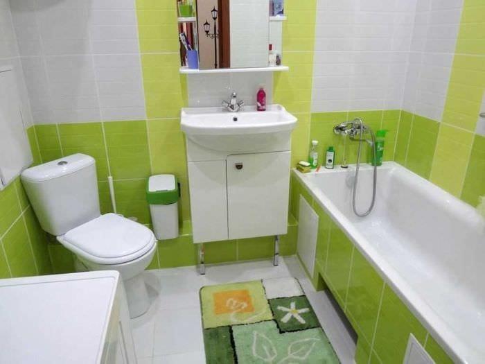 вариант современного стиля ванной комнаты 3 кв.м