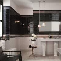 вариант современного стиля большой ванной комнаты картинка