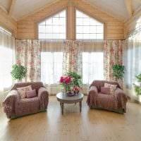 идея яркого стиля дома со вторым светом фото