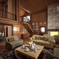 вариант красивого дизайна дома со вторым светом картинка