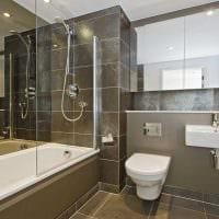 вариант необычного стиля ванной 2.5 кв.м фото