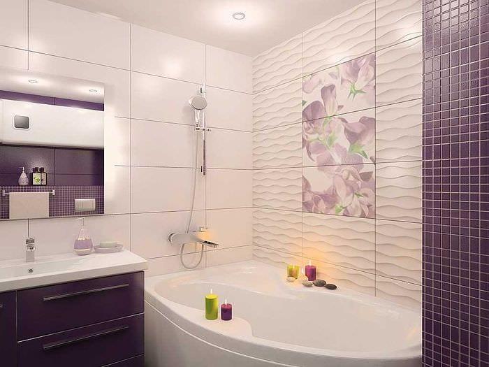 вариант красивого стиля ванной комнаты 2.5 кв.м