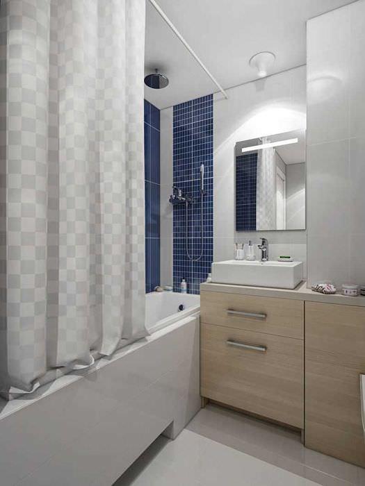 идея красивого интерьера ванной комнаты 3 кв.м