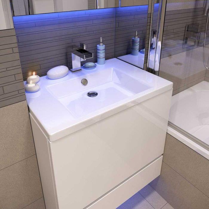 идея необычного стиля ванной комнаты 4 кв.м