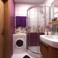 вариант яркого дизайна ванной 6 кв.м фото