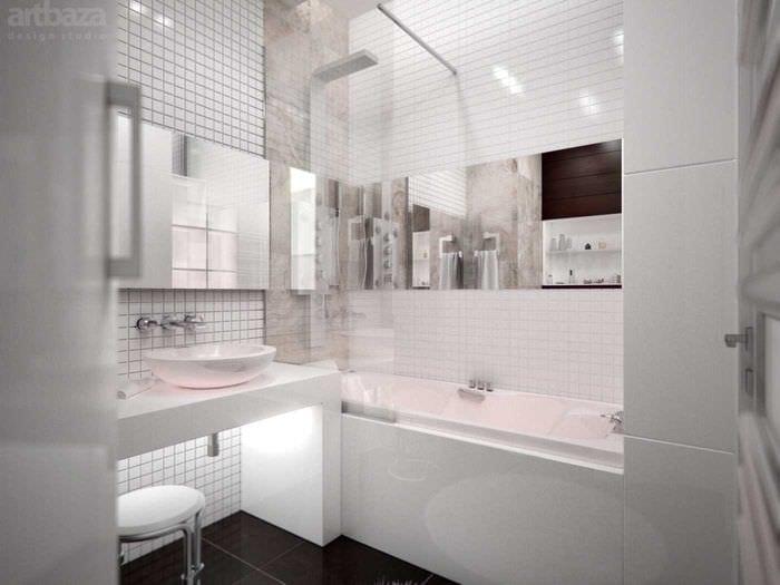 идея необычного стиля ванной комнаты 6 кв.м
