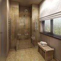 вариант красивого стиля ванной комнаты с окном картинка