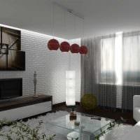 вариант красивого дизайна гостиной в стиле минимализм картинка