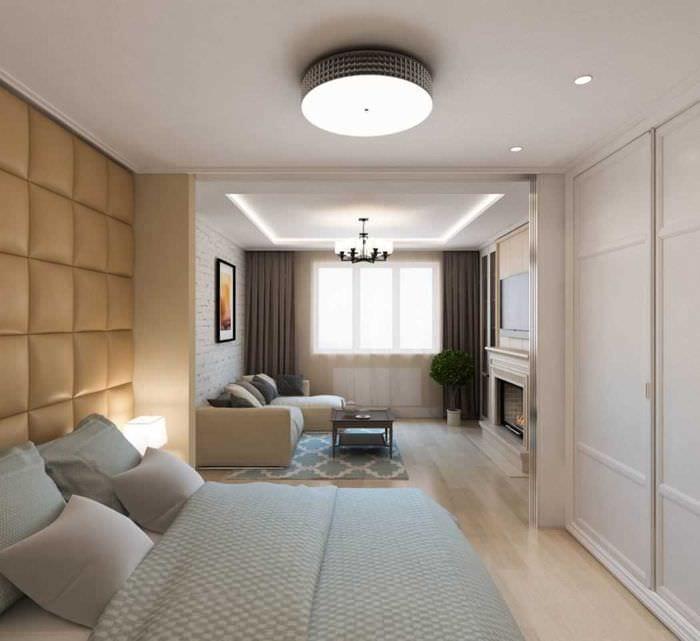 вариант красивого дизайна современной квартиры 50 кв.м