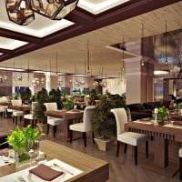 идея красивого декора ресторана в стиле лофт картинка