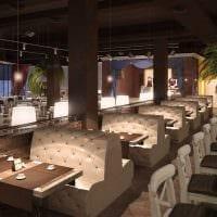 идея красивого дизайна ресторана в стиле лофт картинка