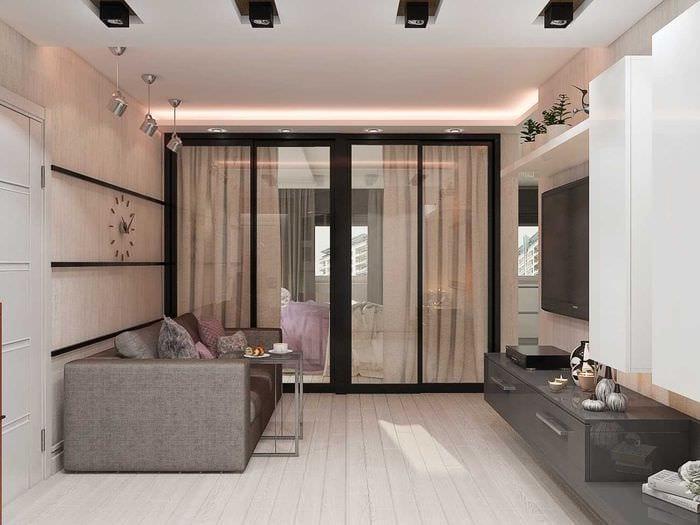 вариант яркого интерьера квартиры 70 кв.м